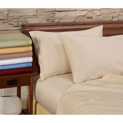 Egyptian Cotton 1000 Thread Count Solid 4-piece Sheet Set