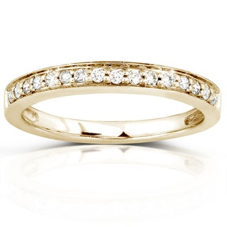 Annello 14k Yellow Gold 1/6ct TDW Diamond Wedding Band (H-I, I1-I2)