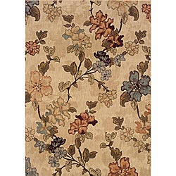 Messina Beige/Green Transitional Area Rug (3'10 x 5'5)