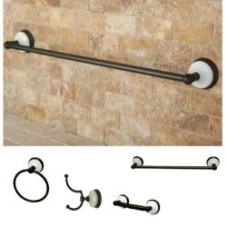 Oil Rubbed Bronze 4-piece Bathroom Accessory Set