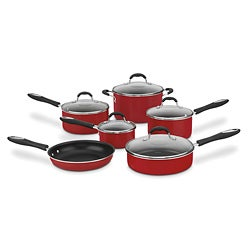 Cuisinart 55-11R Red Advantage Nonstick 11-piece Cookware Set