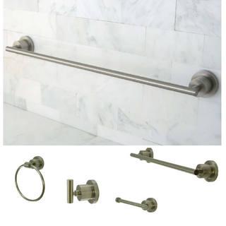 Satin-Nickel-Finish Four-Piece Bathroom Accessory Set