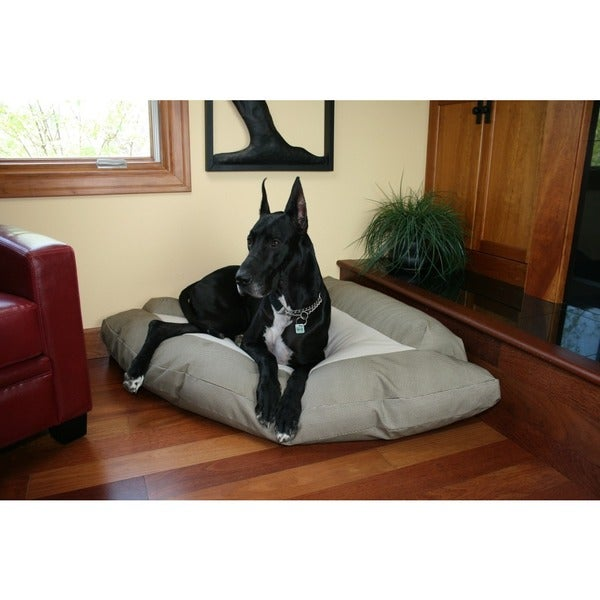 Hidden Valley Extra-large Khaki/Taupe Cotton/Fleece Corner Dog Bed