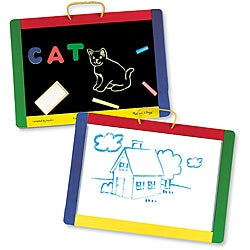 Melissa & Doug Magnetic Chalkboard/ Dry-Erase Board Set