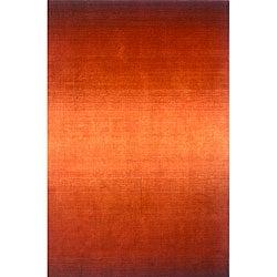 Hand-tufted Manhattan Ombre Orange Wool Rug (5'0 x 8'0)
