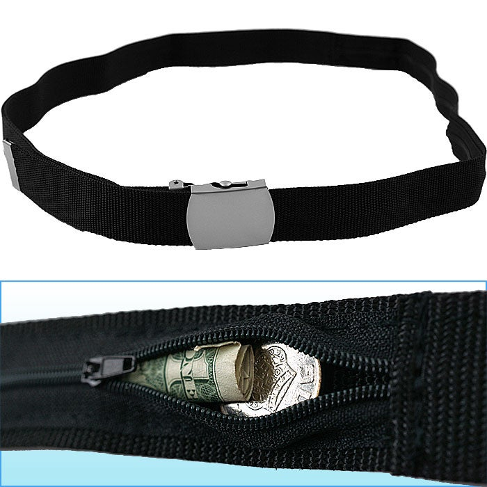 53-inch Belt w/ Hidden Zippered Storage Pocket