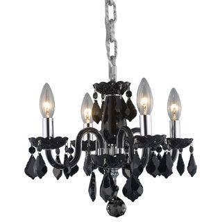 Christopher Knight Home Crystal 4-light Black Chandelier