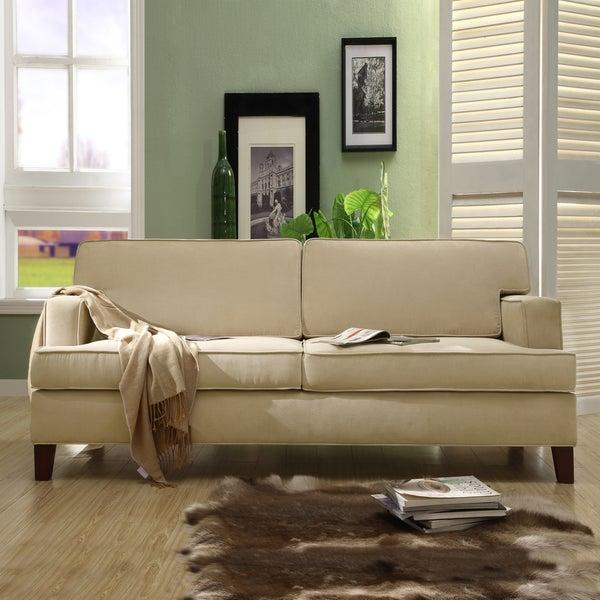 Stewart Beige Track Arm Modern Sofa