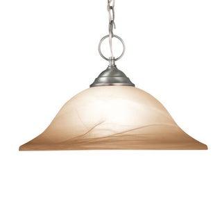 Woodbridge Lighting Anson 1-light Satin Nickel Pendant Light