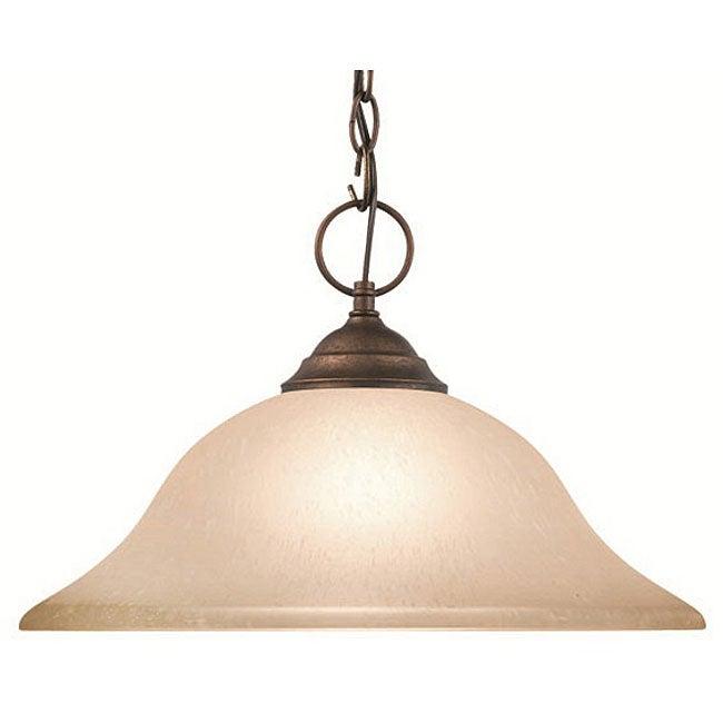 Woodbridge Lighting Anson 1-light Marbled Bronze Pendant
