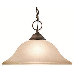 Woodbridge Lighting Anson 1-light Marbled Bronze Pendant