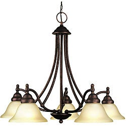 Woodbridge Lighting Anson 5-light Marbled Bronze Chandelier