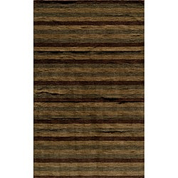 Manhattan Stripe Hand-Loomed Wool Rug (8' x 11')