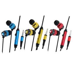 INSTEN Headphones with Microphone for Apple iPhone 3G/ 3GS/ 4 (Pack of 3)
