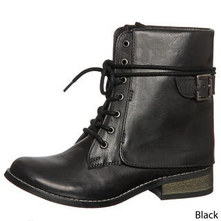 MIA Women's 'Ximena' Lace-up Leather Boots