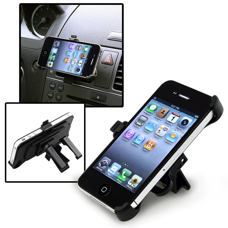 INSTEN Car Air Vent Mounted Holder Cradle for Apple iPhone 4