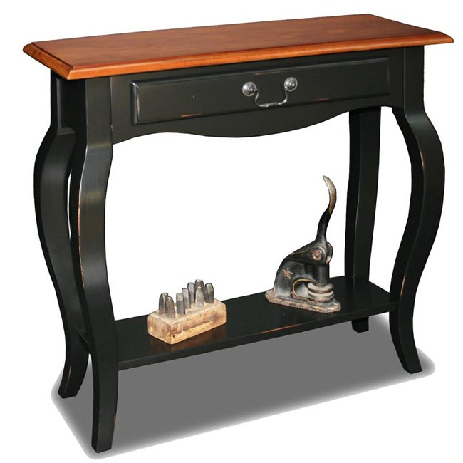 Overstock Foyer Furniture : Brown cherry slate solid wood console table overstock