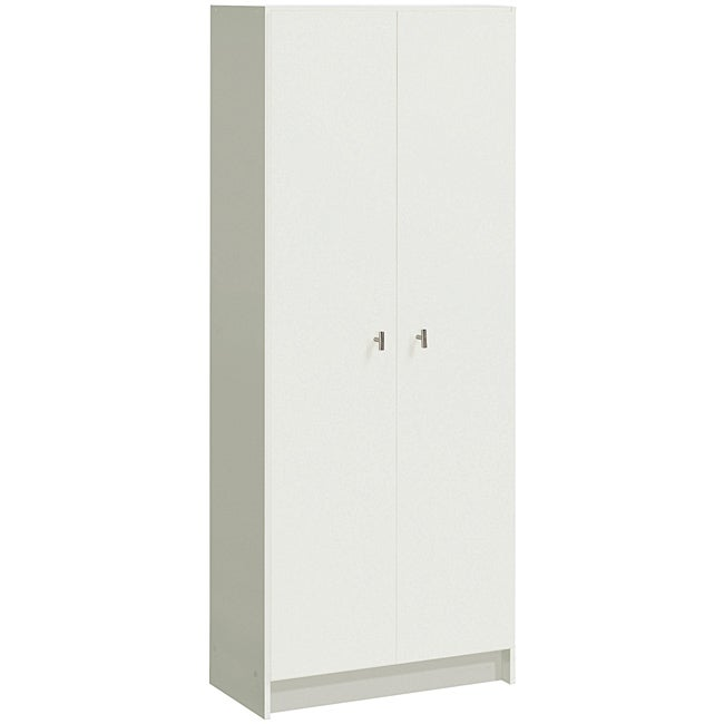 Akadahome Antique White Multipurpose 60-inch Storage Cabinet