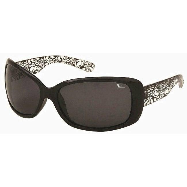 Coleman Women's CC1 Black/ Clear Polarized Sunglasses