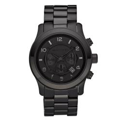 Michael Kors Men's MK8157 Black Stainless-Steel Quartz Watch with Black Dial