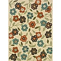Ivory/Brown Outdoor Area Rug (7'10 x 10'10)