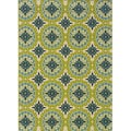 Green and Ivory Outdoor Area Rug (7'10 x 10'10)