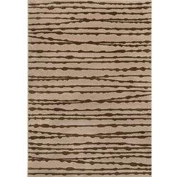 Miramar Grey and Brown Area Rug (5'3 x 7'6)