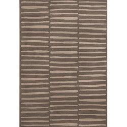 Miramar Grey Geometric Area Rug (5'3 x 7'6)