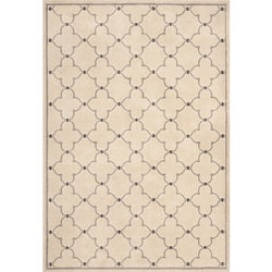 Miramar Ivory/ Grey Contemporary Area Rug (6'7 x 9'6)