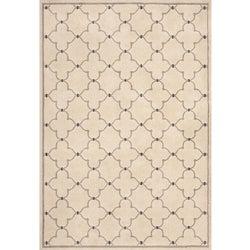 Miramar Ivory/ Grey Contemporary Area Rug (7'10 x 10')