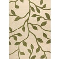Miramar Ivory/Green Transitional Area Rug (5'3 x 7'6)