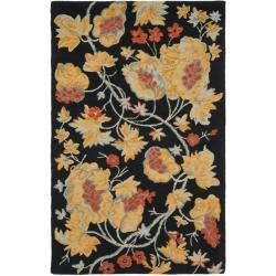 Safavieh Traditional Handmade Blossom Rust Wool Rug (4' x 6')