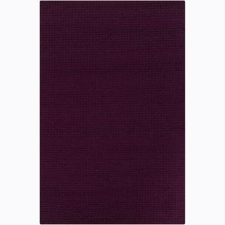 Hand-tufted Mandara Purple Rug (9' x 12')
