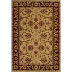 Ellington Beige/Brown Traditional Area Rug (5'3 x 7'6)