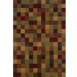 Ellington Brown/Red Transitional Area Rug (7'8 x 10'10)