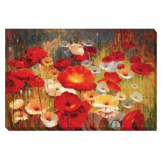 Contemporary Lucas Santini 'Meadow Poppies I' Canvas Art