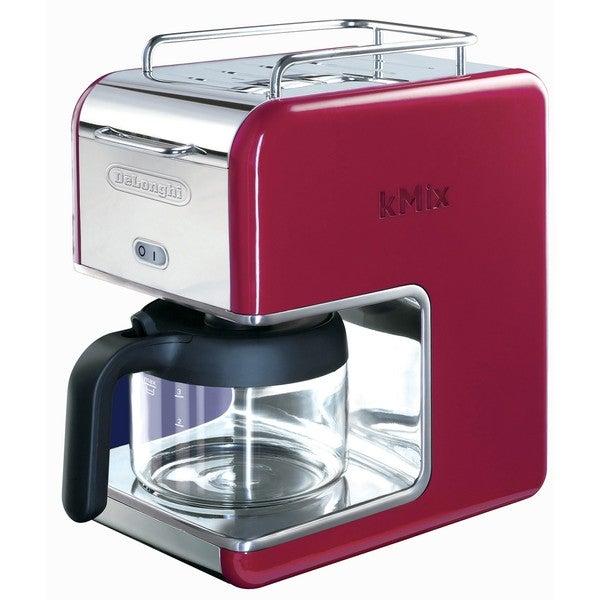 DeLonghi kMix 5-cup Red Drip Coffee Maker