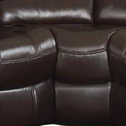 Camden Dark Brown Italian Leather Reclining Sectional Sofa