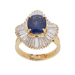 Kabella 18k Yellow Gold Sapphire and 1 7/8ct TDW Diamond Ring (H-I, SI1-SI2)