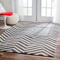 Handmade Alexa Chevron Wool Rug (5&#39; x 8&#39;)