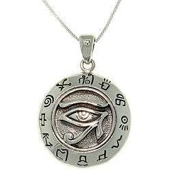 Carolina Glamour Collection Sterling Silver Eye of Horus Necklace