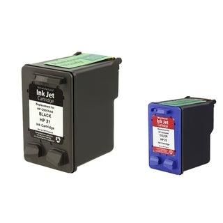 INSTEN HP 21/ 22 Black/ Color Ink Cartridge (Remanufactured)