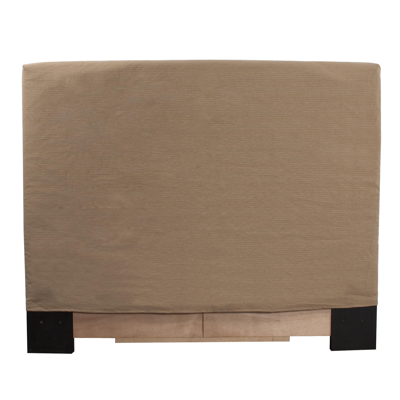 Allan Andrews King-size Tan Slipcovered Headboard