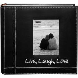 Pioneer Photo Albums Embroidered 200-photo Live Laugh Love Frame Album