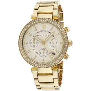 Michael Kors Women's MK5354 Parker Crystal Bezel Chronograph Watch