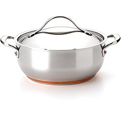 Anolon Nouvelle Copper Stainless Steel 4-quart Covered Chef Casserole Pot