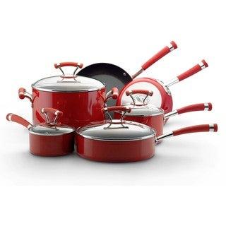 Circulon Contempo Red Nonstick 10-piece Cookware Set