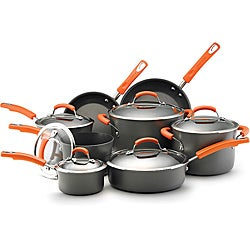 Rachael Ray II Hard-anodized Nonstick 14-piece Cookware Set