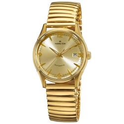Hamilton Men's H38435221 Timeless Classic Thin-O-Matic Yellow Goldtone Watch