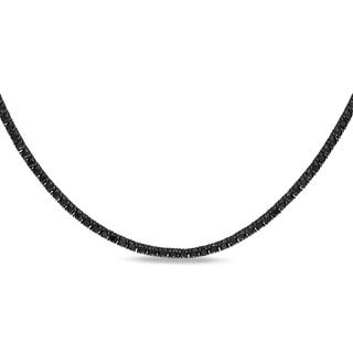 Miadora 18k Gold 27 3/5ct TDW Black Diamond 46-inch Necklace